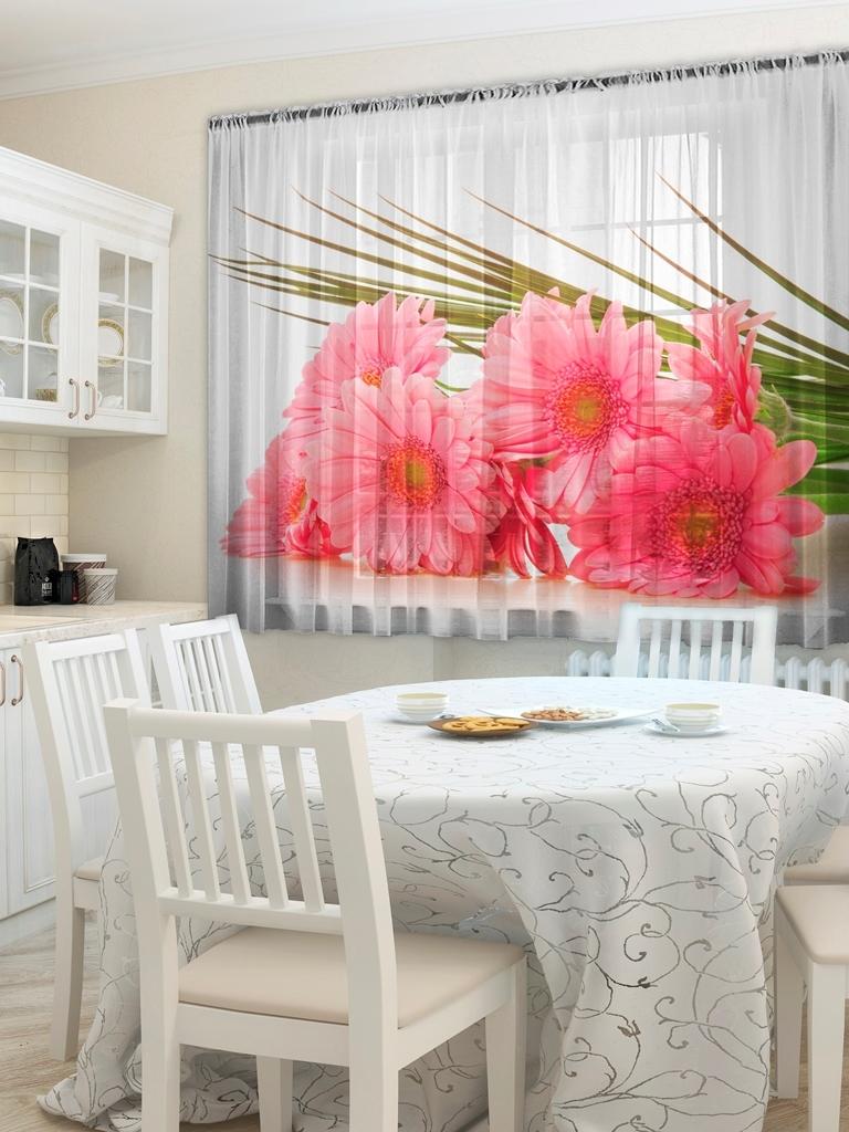фототюль и шторы для кухни фото